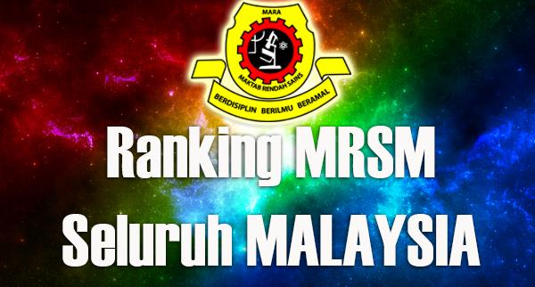 ranking mrsm di seluruh malaysia