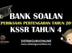 Soalan Peperiksaan Pertengahan Tahun KSSR 2018 Tahun 4