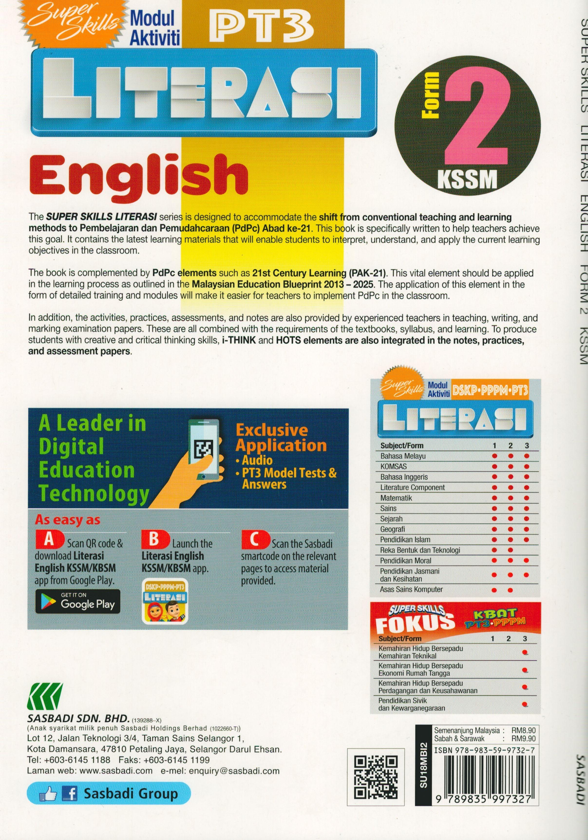 Download Dskp Bahasa Inggeris Tingkatan 2 Terbaik Sasbadi18 Super Skills Modul Aktiviti Pt3 Literasi English form 2 Of Download Segera Dskp Bahasa Inggeris Tingkatan 2 Yang Berguna Khas Untuk Para Ibubapa Lihat!