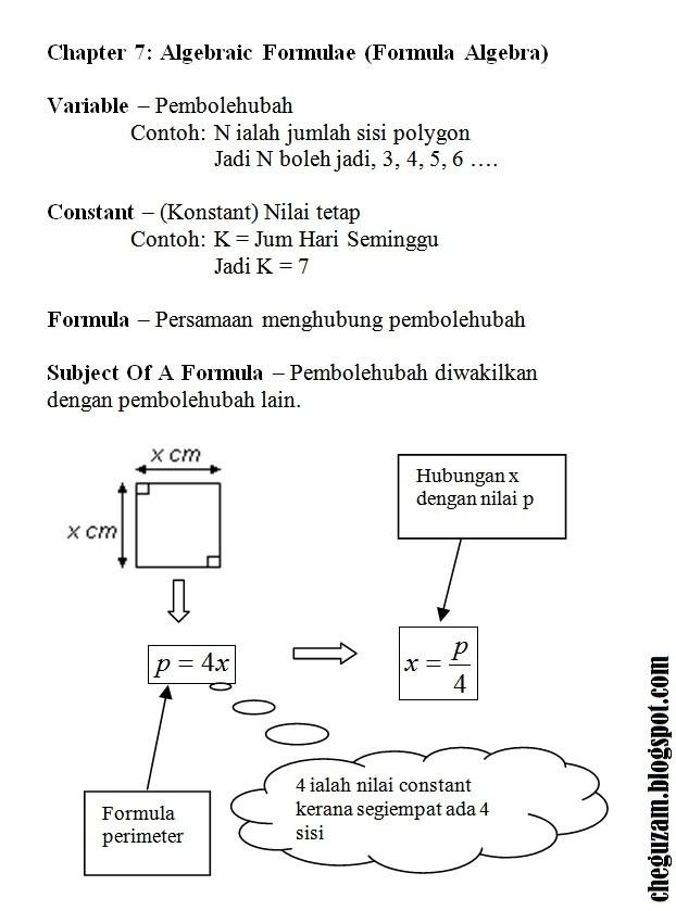 Download Dskp Matematik Tingkatan 3 Menarik Nota Matematik Tingkatan 3 Bab 7 Algebraic formulae formula Of Download Segera Dskp Matematik Tingkatan 3 Yang Terbaik Khas Untuk Para Murid Cetakkan!