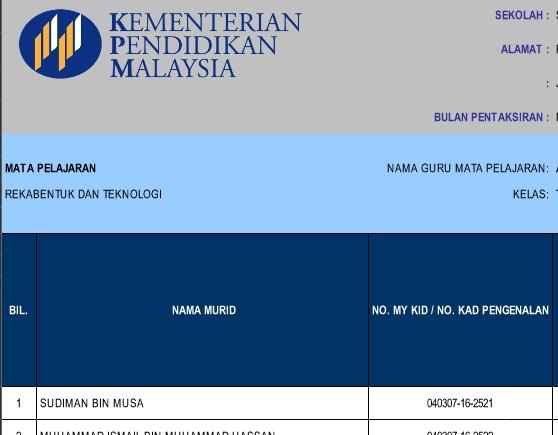 assalam dan selamat sejahtera di sini saya kongsikan template pelaporan kssm tingkatan 1 semua mata pelajaran bagi kegunaan semua guru di malaysia semoga