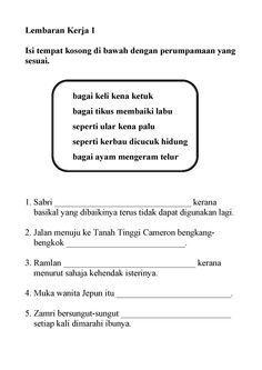 Latihan Bahasa Melayu Upsr Menarik Lembaran Kerja Bahasa Melayu Tahun 2 Adib Pinterest Education Of Senarai Latihan Bahasa Melayu Upsr Yang Baik Khas Untuk Guru-guru Cetakkan!