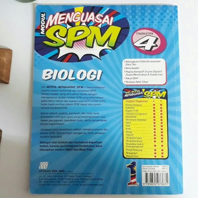 Latihan Biologi Tingkatan 5 Hebat Modul Latihan Biologi Tingkatan 4 Books Stationery Books On Of Muat Turun Latihan Biologi Tingkatan 5 Yang Baik Khas Untuk Para Ibubapa Perolehi!