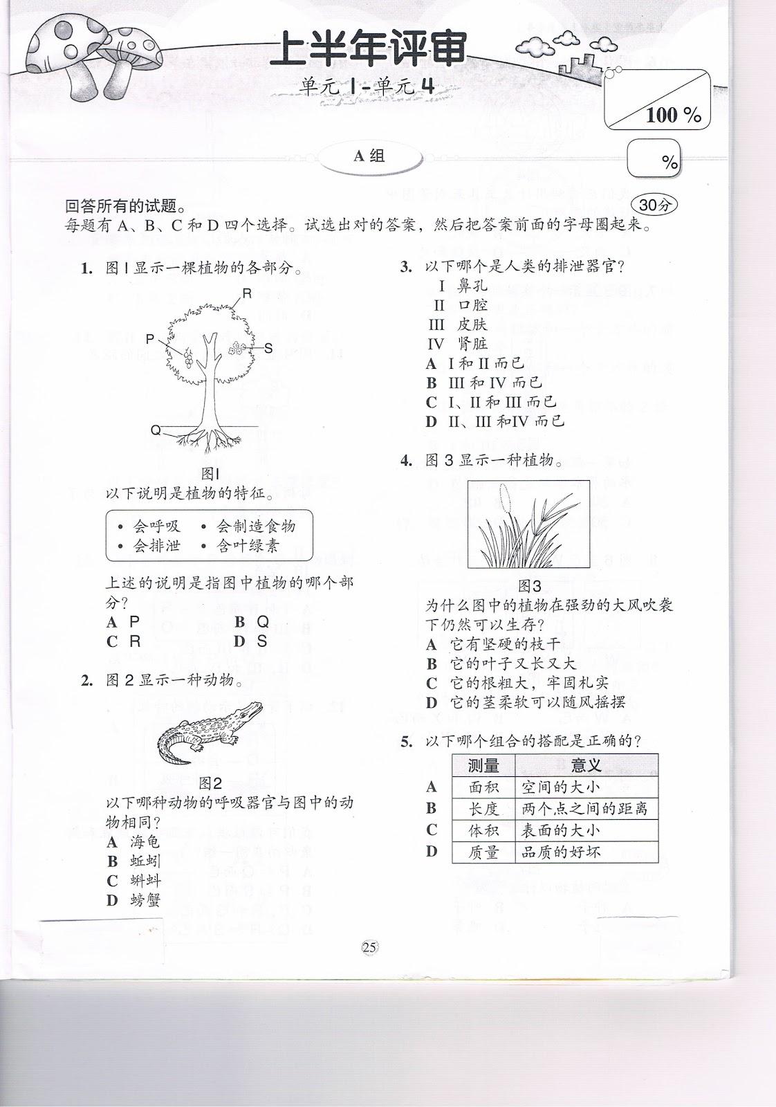 latihan sains tahun 4 no 4