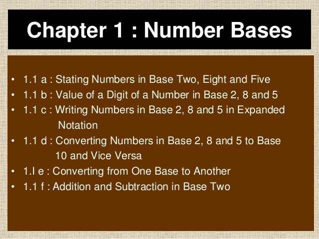 1 0 number bases form 5 chapter 1 number bases 1 1 a stating numbers in base two