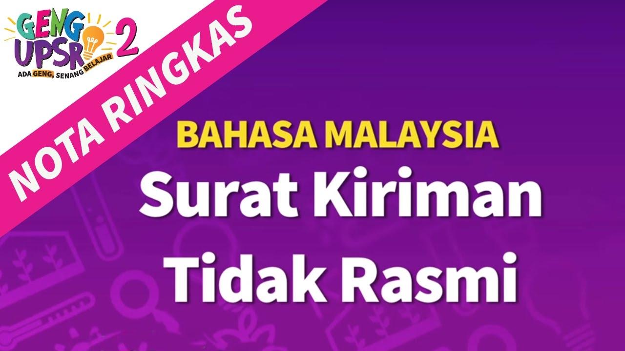 Nota Bahasa Melayu Upsr Yang Power Geng Upsr 2 Episod 4 Bm Surat Kiriman Nota Ringkas Youtube Of Himpunan Nota Bahasa Melayu Upsr Yang Terbaik Untuk Murid Lihat