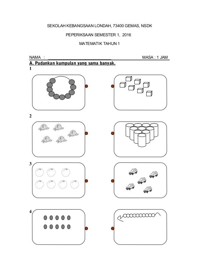 Nota Matematik Tahun 1 Yang Sangat Power soalan Peperiksaan Matematik Kssr Tahun 1 Semester 1 Of Himpunan Nota Matematik Tahun 1 Yang Bernilai Untuk Para Guru Muat Turun