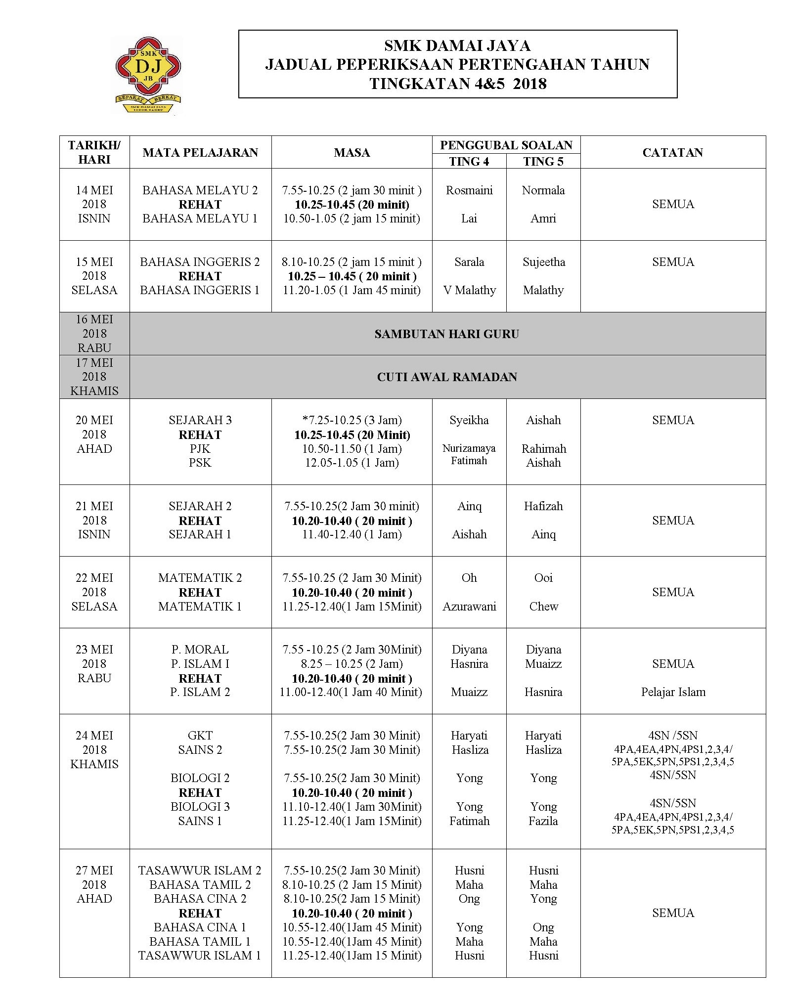 Peperiksaan Awal Tahun Reka Bentuk Dan Teknologi Tingkatan 1 Bermanfaat Admin Laman Rasmi Smk Damai Jaya Of Jom Download soalan Peperiksaan Awal Tahun Reka Bentuk Dan Teknologi Tingkatan 1 Yang Bermanfaat Khas Untuk Murid Perolehi!