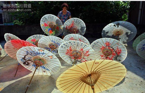 payung kertas minyak seni tradisonal china lebih 1000 tahun