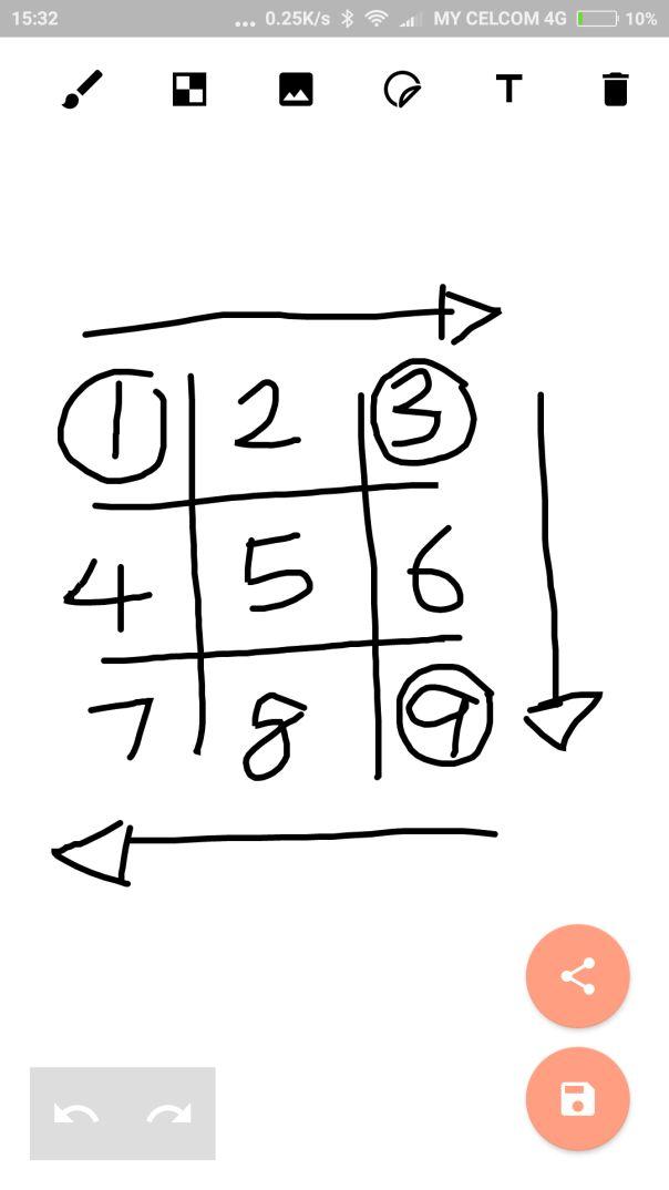 untuk sifir 9 kekiri dan sifir 7 keatas anak panah ini penting untuk anda susun nombor rumah sa dalam membina sifir