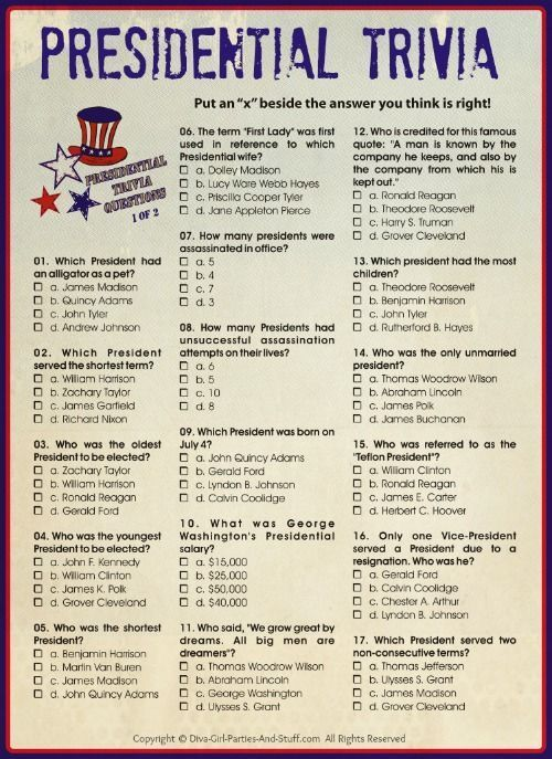 presidential trivia an american presidents quiz in 2018 annual fourth of july amazing race pinterest presidents day independence day and fourth of