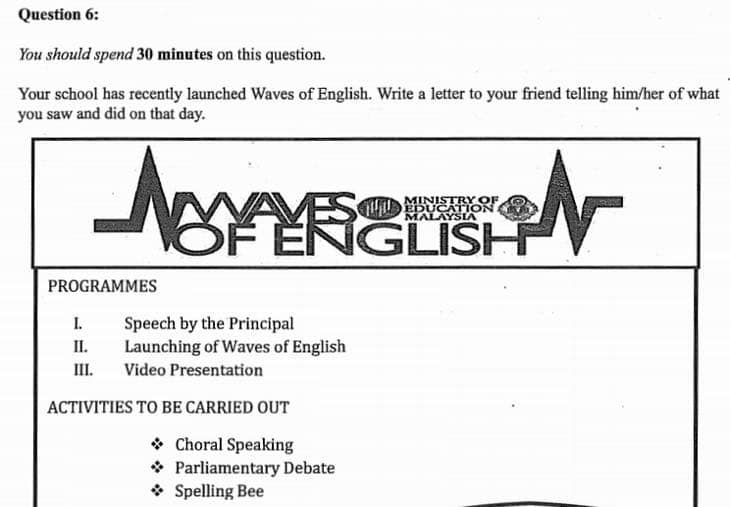 trial paper english pt3