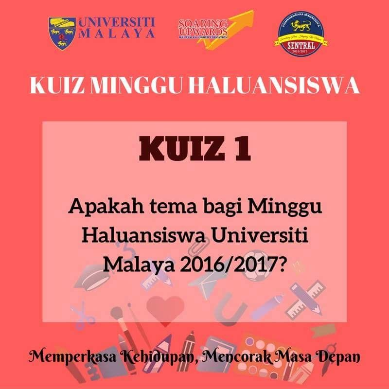 soalan pertama kuiz online minggu haluansiswa universiti malaya jawapan hnya di facebook saja selamat menjawab pic twitter com dkprzez35t
