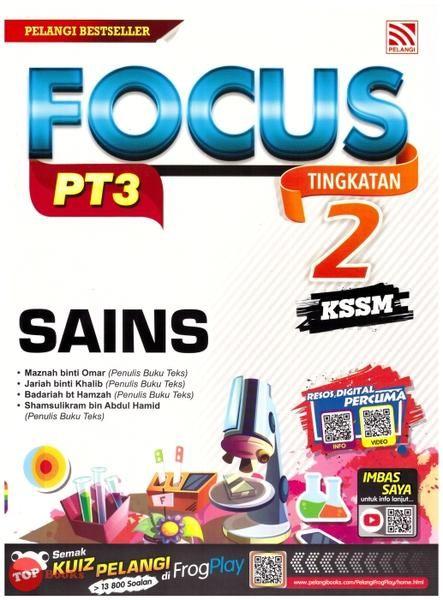 Kuiz Upsr Sains Bernilai Pelangi 18 Focus Pt3 Sains Kssm Tingkatan 2 topbooks Plt