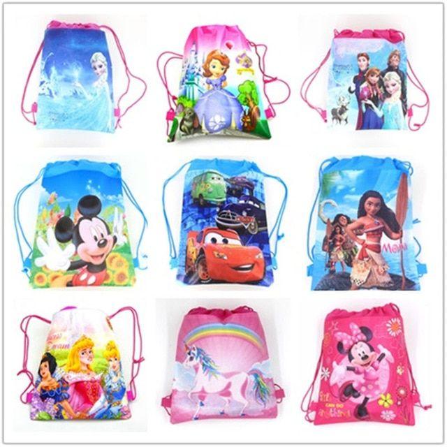 authorized 6pcs disney mickey minnie mouse snow white frozen cars princess sofia moana non woven