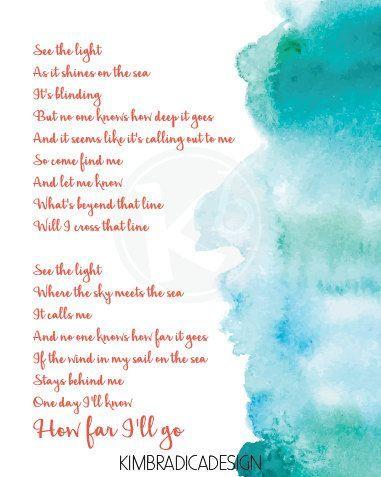 moana how far i ll go 8x10 digital print by kimbradicadesign moana disneymoana moanaparty howfari llgo