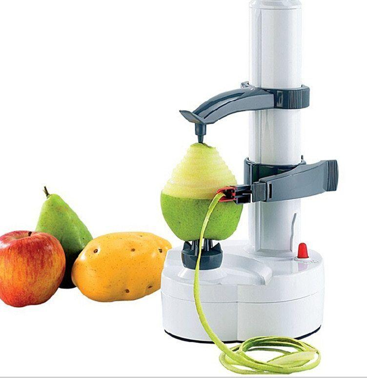 multi fungsi putih kentang sayuran buah apel pengupas pengupas listrik atau baterai dioperasikan untuk dapur