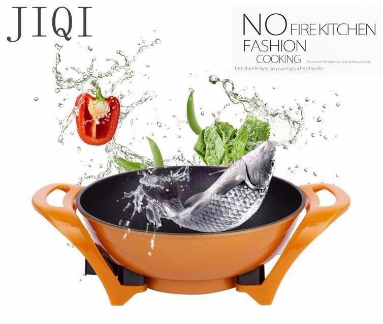 cukyi multifungsi listrik hot pot emas non stick bebas asap hemat energi listrik hot pot
