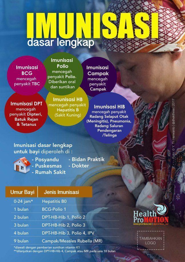 poster imunisasi dasar lengkap