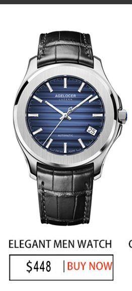 agelocer merek mewah mekanis watch pria wanita pecinta jam tangan wanita pria jam gaun jam gelang jam tangan pria warna