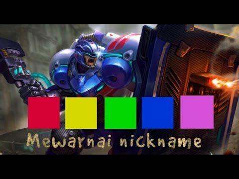 mewarnai nickname mobile legends