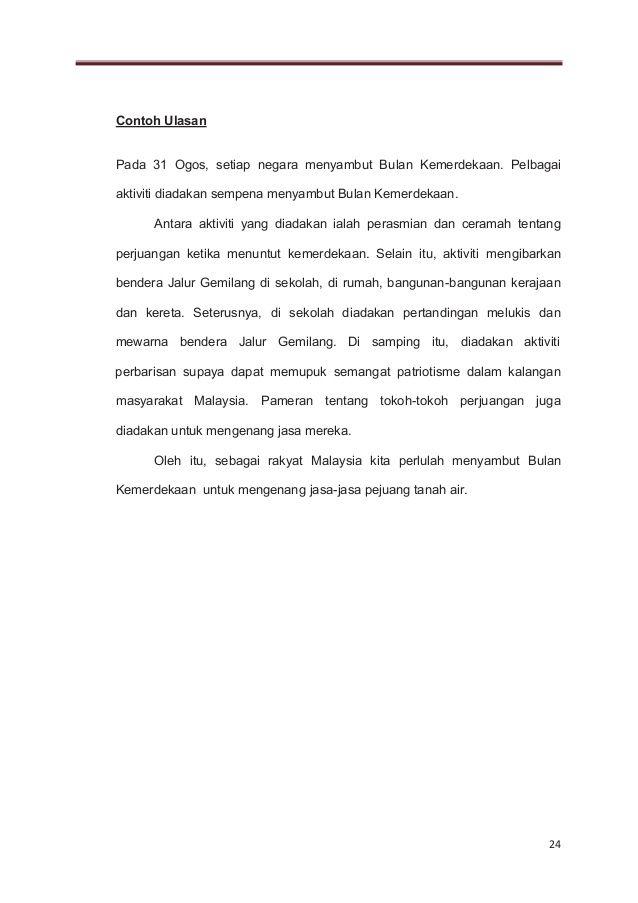 Jalur Gemilang Mewarna Power 1 Bm Penulisan Upsr Pasti A