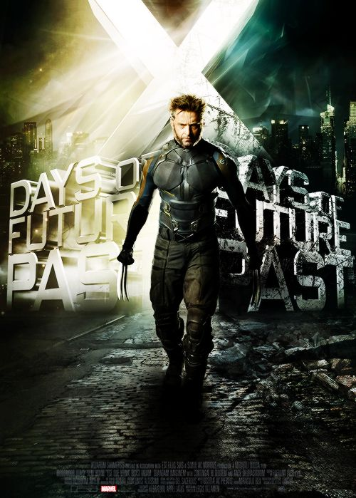 hugh jackman as wolverine in x men days of future past poster