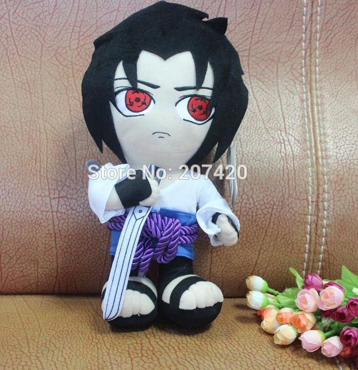 12 inch 32 cm jepang anime naruto naruto syaringan uchiha sasuke lembut mewah mainan boneka boneka hadiah