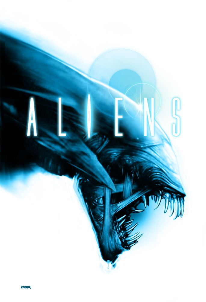 aliens poster 2 white background by robertods deviantart com