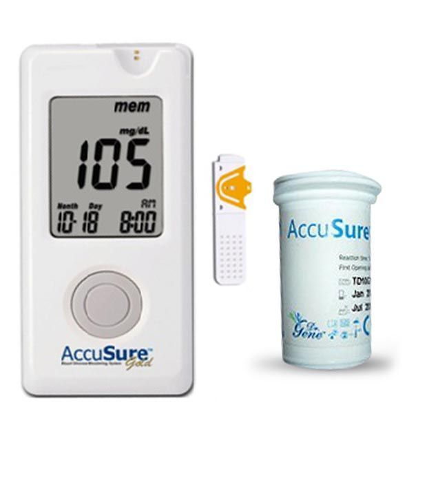 accusure gold glucose meter 25 strips combo with 10 free strips buy online at best price in india on snapdeal