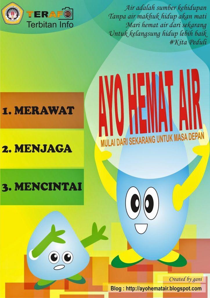 Cantik Poster Menghemat Air Yang Mudah Koleksi Poster