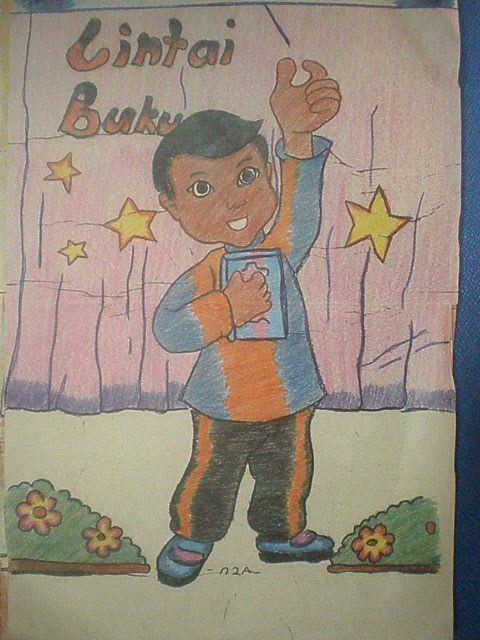 mewarna poster sempena kem membaca 1 malaysia 8 11 2010 hingga 12 11 2010