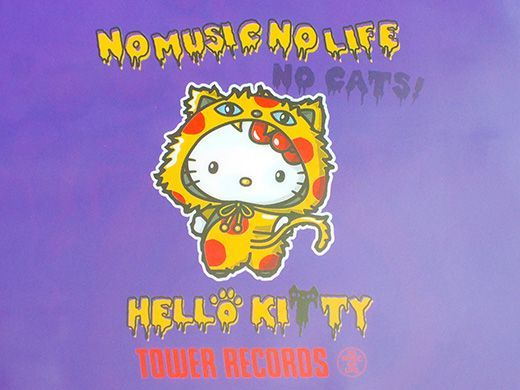 poster mewarna hello kitty meletup tower records x hello kitty for halloween 8tokyo com cruising