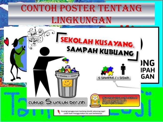 6 contoh poster tentang lingkungan