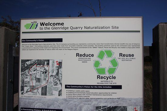 glenridge quarry naturalization site welcome sign