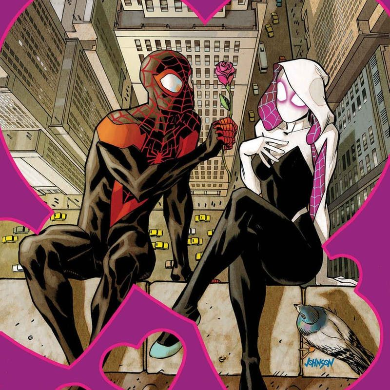 spider gwen and miles morales s mutual spidey crush is now canon inverse