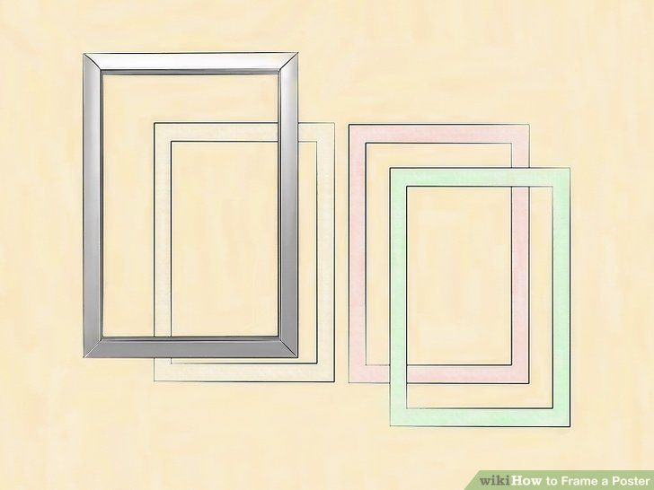 image titled frame a poster step 2