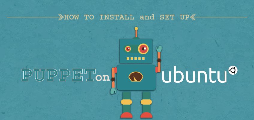 view larger image how to install and set up puppet on ubuntu on teal background