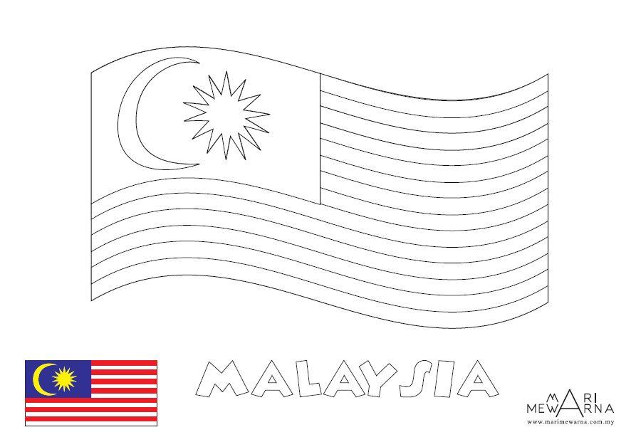 gambar bendera malaysia untuk mewarna gambar bendera malaysia untuk mewarna