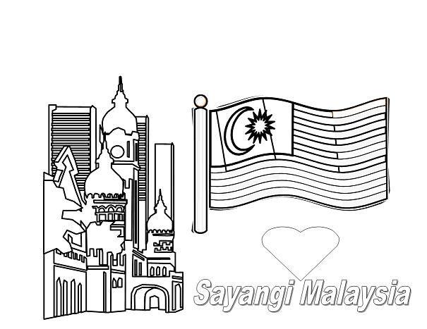 Jalur Gemilang Mewarna Jalur Gemilang Lukisan Bendera Malaysia