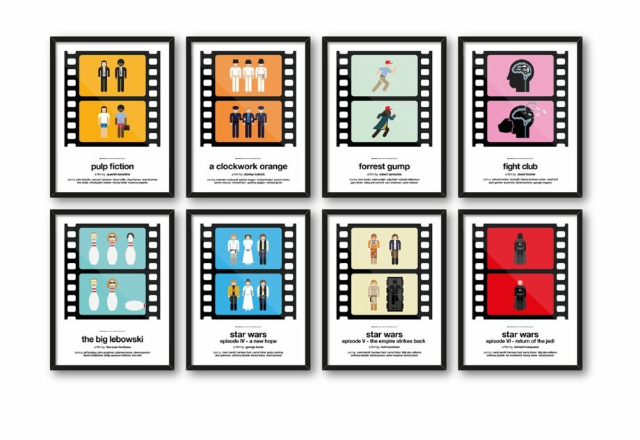 movie frame png two frame pictogram movie posters design by viktor pictogrammes film