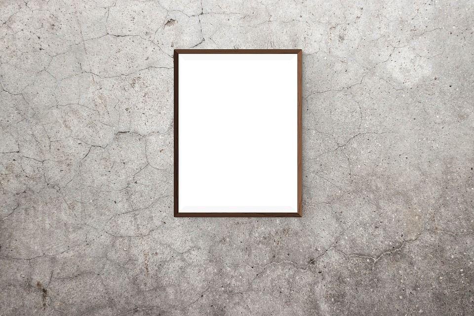bingkai poster maket kanvas dinding gambar