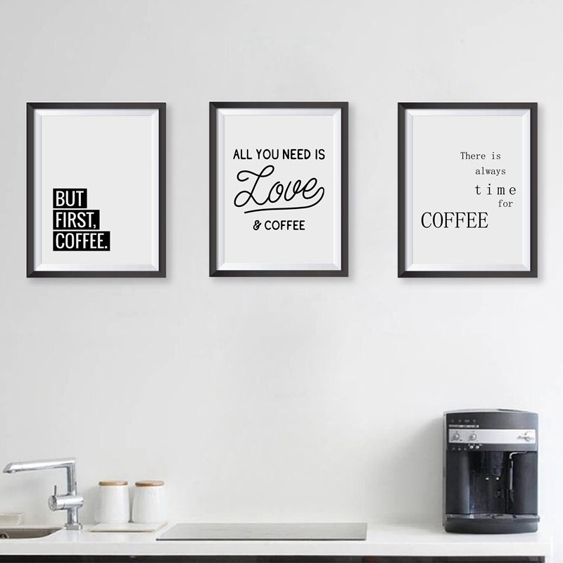 coffee quote wall art prints kitchen home decor love coffee poster canvas painting prints coffee shop wall decor in painting calligraphy from home