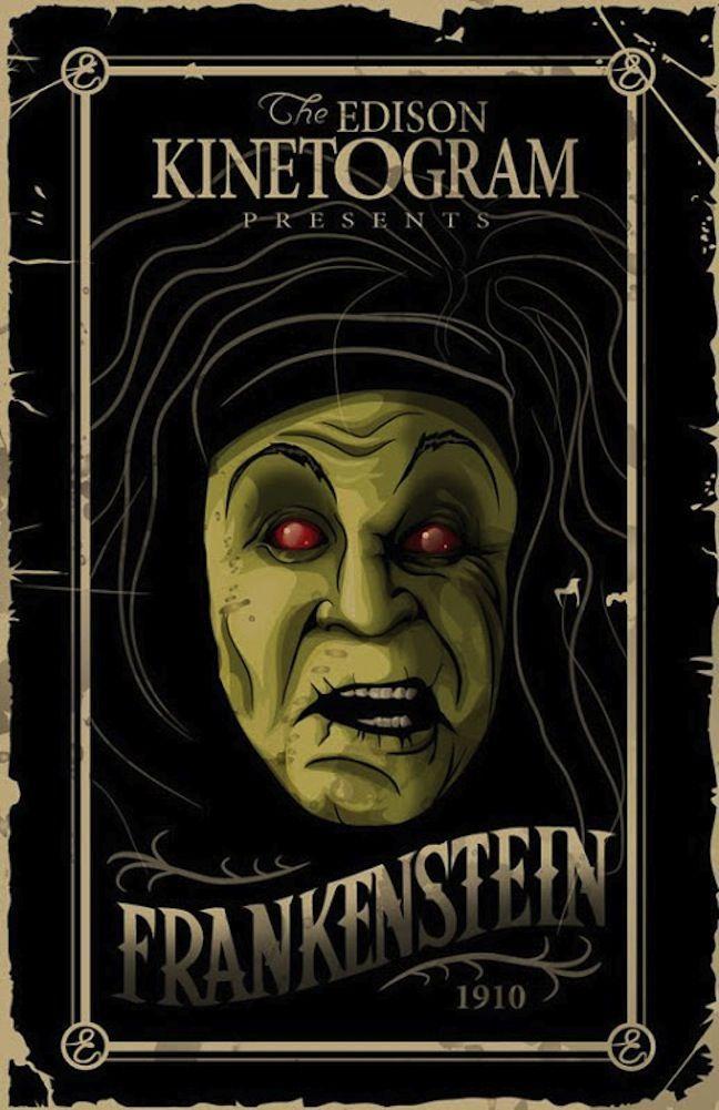 poster film horor hebat frankenstein 1910 silent film horror science fiction and