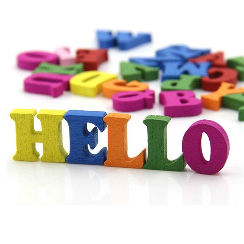 new 100 buah bungkus kata kata bahasa inggris alfabet huruf kayu kerajinan warna