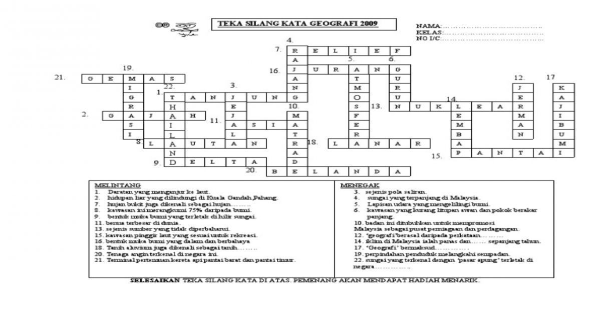 contoh teka silang kata dan jawapan bahasa melayu terhebat isu semasa archives page 19 of 30