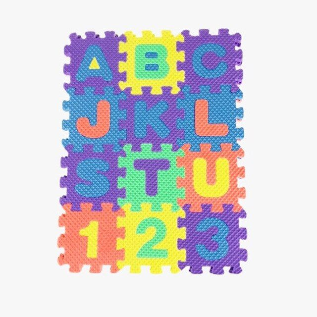 36 pcs set teka teki mini digital huruf alfabet z abjad 0