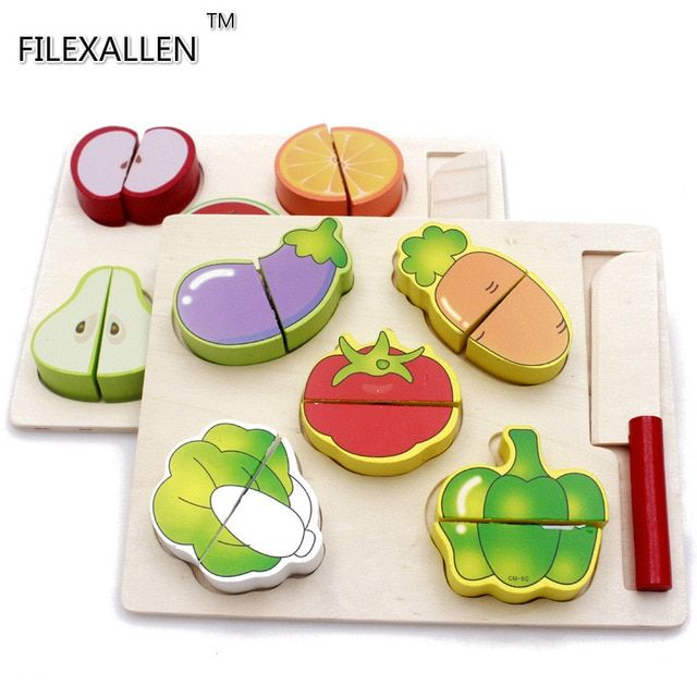 3d simulasi buah buahan dan sayuran model puzzle mainan anak permainan puzzle anak mainan kayu