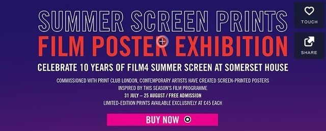 summer screen prints film poster exhibition at somerset house