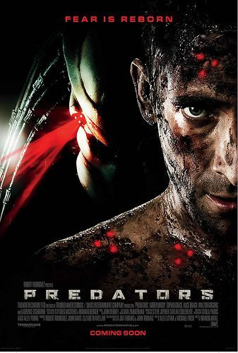 predators movie poster ok so aliens fall under scifi not a fan but when i was a kid i just thought they were monsters and i 3 monsters